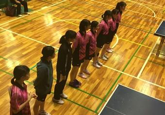 高校卓球部が県大会に進出しました